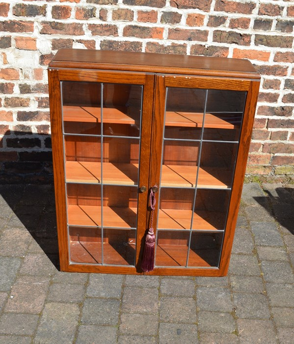 Small glass fronted display cabinet W 77cm Ht 95cm