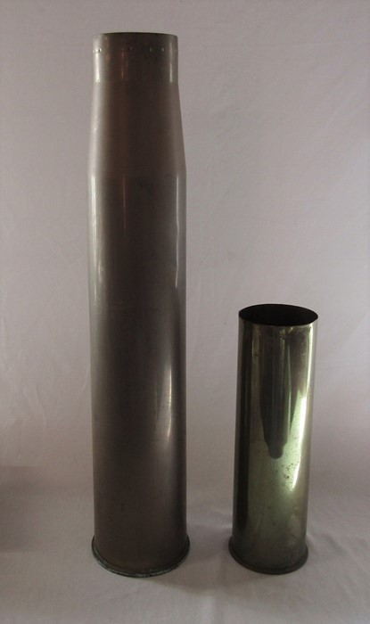 2 WWII shell cases - 1944 H 37 cm 1937 H 73 cm