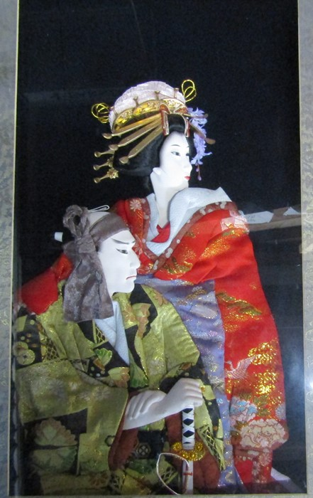 2 framed Japanese 3D wall art pictures 46 cm x 70.5 cm and 48 cm x 54.5 cm - Image 5 of 6