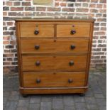 Victorian mahogany chest of drawers H 117 cm L 101 cm