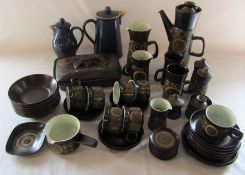 Denby Arabesque coffee pot, tureen etc and other Denby pots