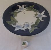 Large Royal Copenhagen charger depicting flowers no 1064 646 D 35.5 cm and a small Royal