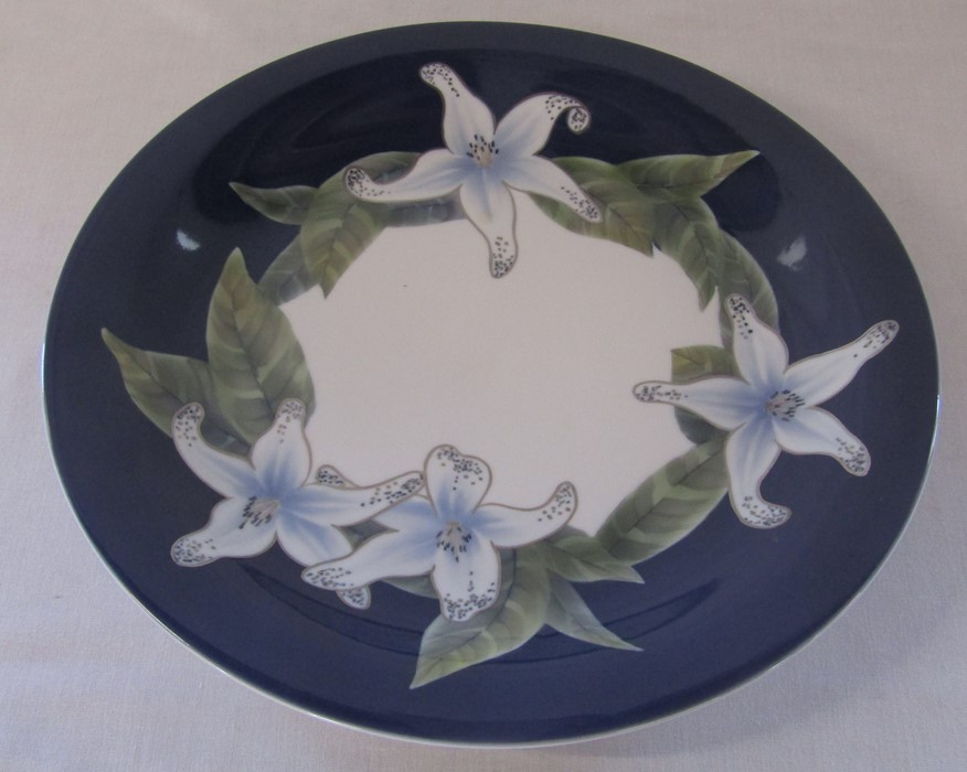 Large Royal Copenhagen charger depicting flowers no 1064 646 D 35.5 cm and a small Royal - Image 4 of 5