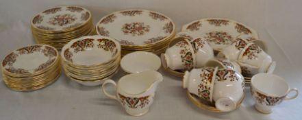 Colcloughpart dinner & tea service comprising 10 cups & 9 saucers, 2 sandwich plates, 8 dinner