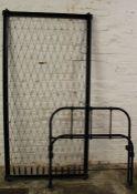 Vintage single cast iron bed frame