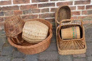 Various wicker baskets