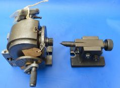 Vertex universal dividing head with 3 plates & a Myford spindle