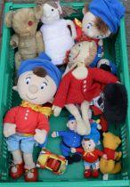 Noddy & other cuddly toys including a vintage teddy bear