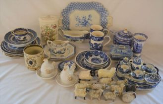 Various ceramics including Booth Old Willow, Spode Italian etc