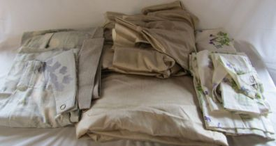 Selection of curtains and tie backs