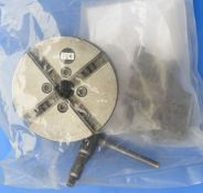 Emco 110mm precision 4 jaw self centring chuck to fit a Myford spindle