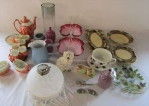 2 boxes of glassware and ceramics etc inc Beswick and Denby