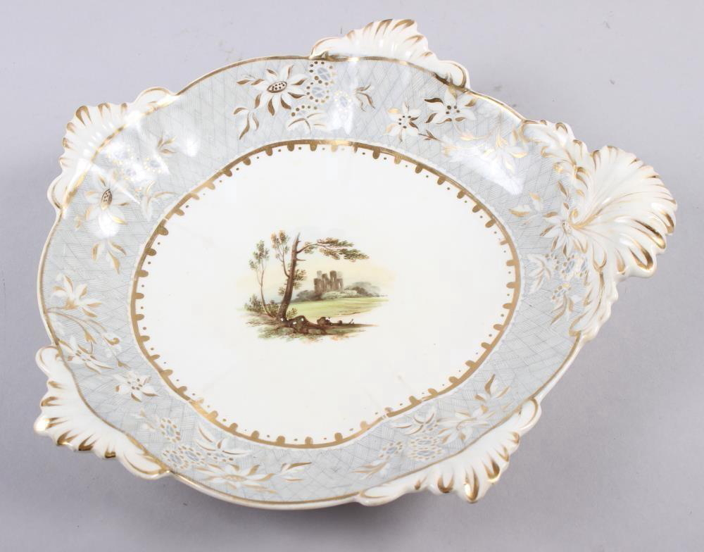 A Rockingham porcelain part dessert service, comprising six plates and two dessert dishes with - Image 20 of 24