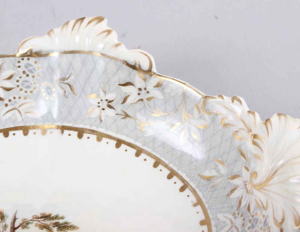 A Rockingham porcelain part dessert service, comprising six plates and two dessert dishes with - Image 21 of 24