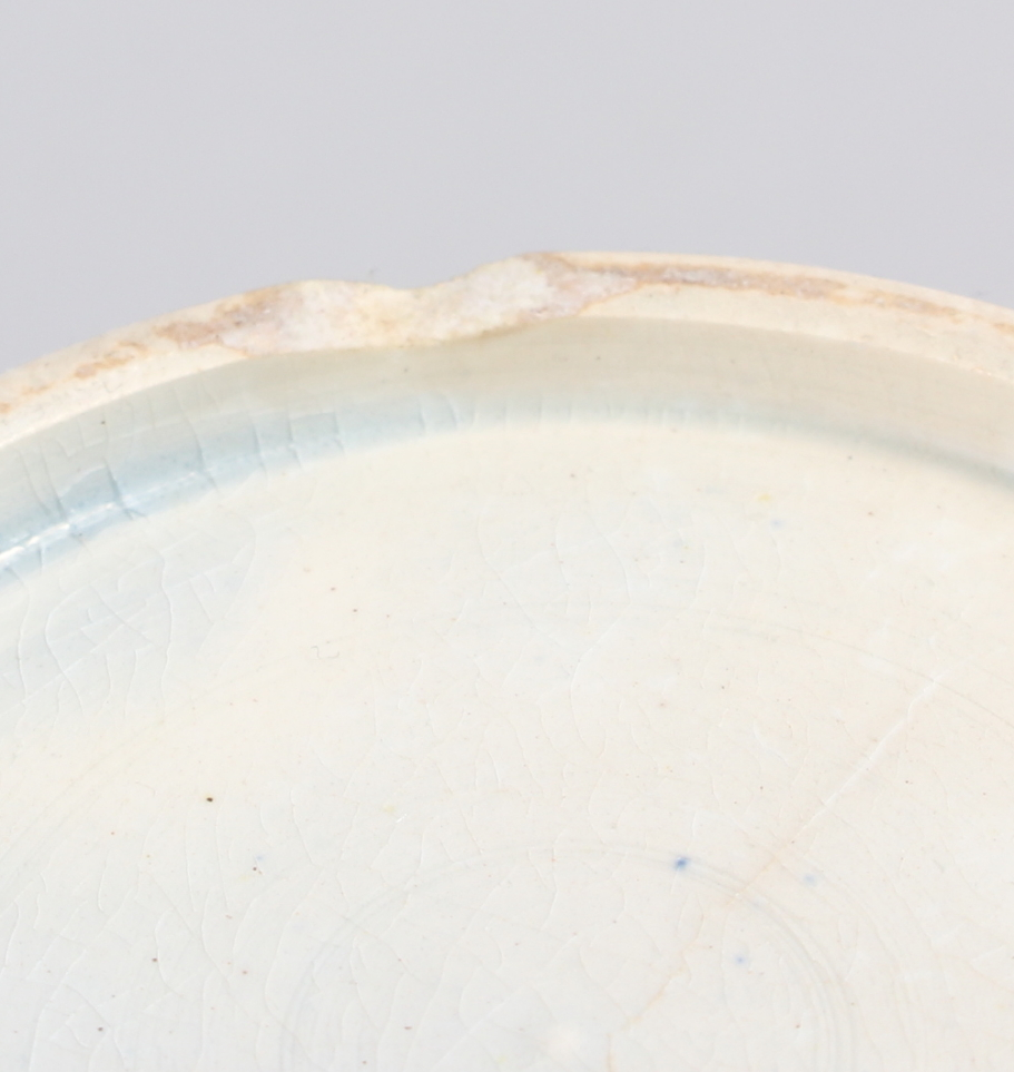 "A 19th silver and white glazed pearlware jug with verse decoration, 4 1/2"" high (chip to base) - Image 7 of 7"