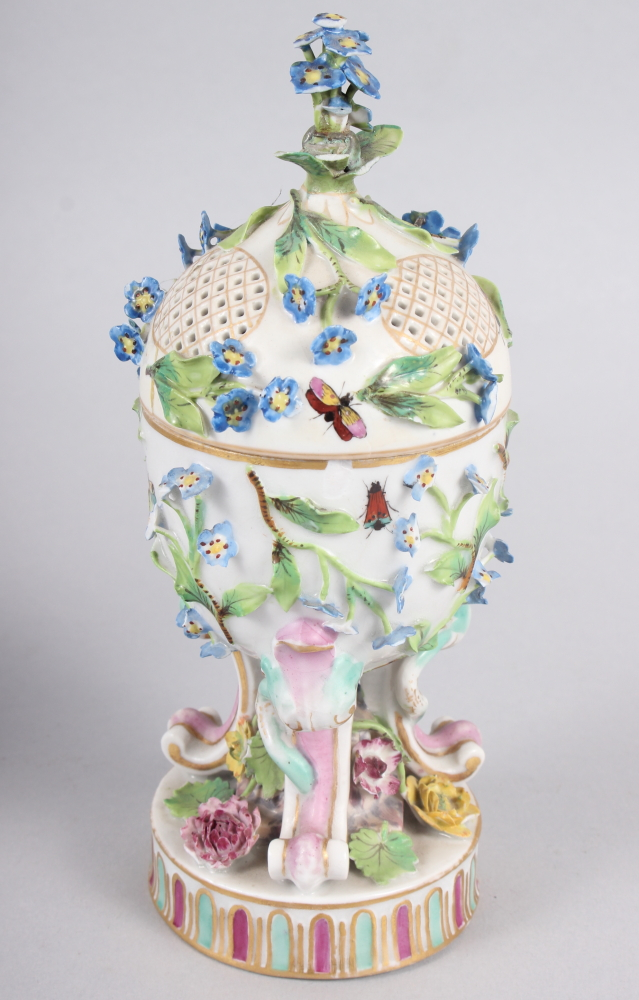 A pair of pot pourri jars with hinged covers and insect and relief floral decoration - Image 16 of 31