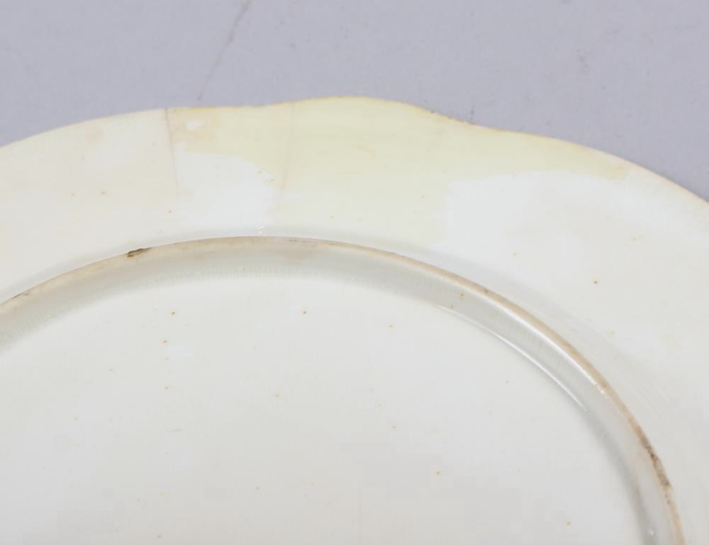 A Rockingham porcelain part dessert service, comprising six plates and two dessert dishes with - Image 19 of 24