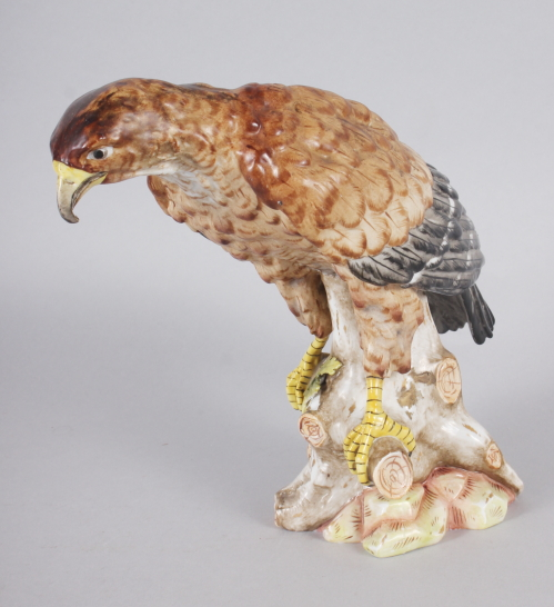 "A German china model of an eagle, 7 1/2"" high"