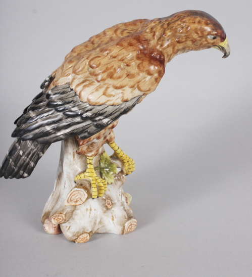 "A German china model of an eagle, 7 1/2"" high - Image 3 of 8"