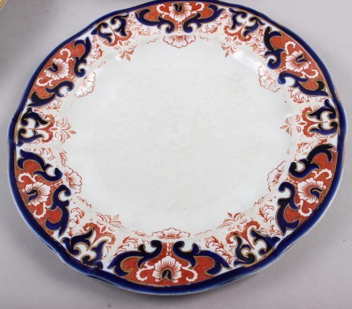 """A pair of Royal Crown Derby Imari pattern dinner plates, 10"""" dia, and five matching dessert plates - Image 4 of 5"""