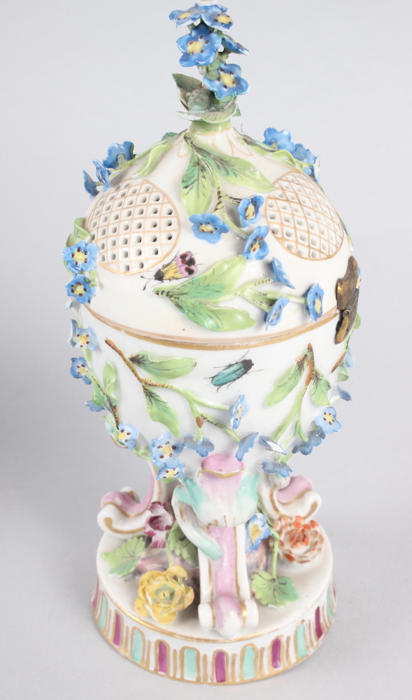 A pair of pot pourri jars with hinged covers and insect and relief floral decoration - Image 23 of 31