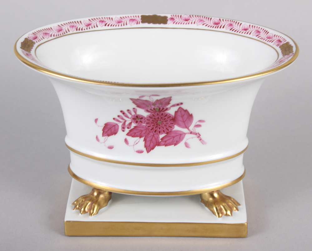 """A Herend menu card holder, formed as a dolphin with gilt decoration, 3"""" high, and a Herend oval bowl - Image 7 of 11"""