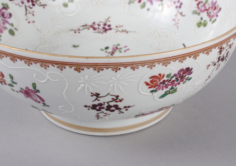 """A Sampson Paris bowl with armorial, floral and gilt decoration, 9"""" dia - Image 4 of 7"""