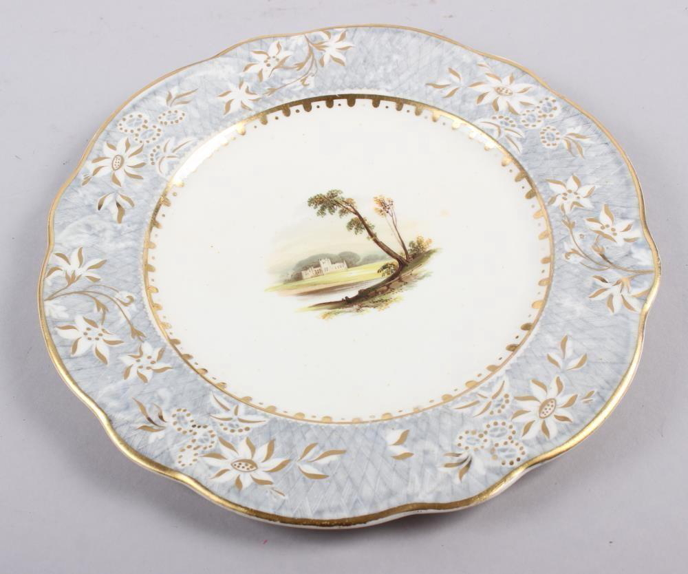 A Rockingham porcelain part dessert service, comprising six plates and two dessert dishes with - Image 14 of 24
