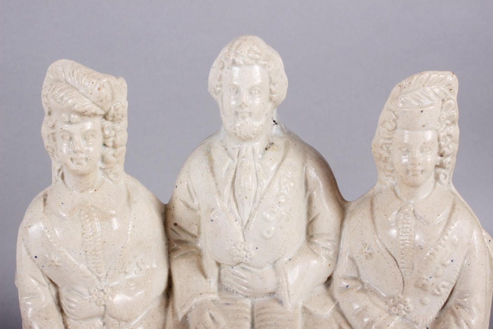 """A Staffordshire figure group, """"The Independent Order of Good Templars"""", 11"""" high, and a - Image 5 of 8"""