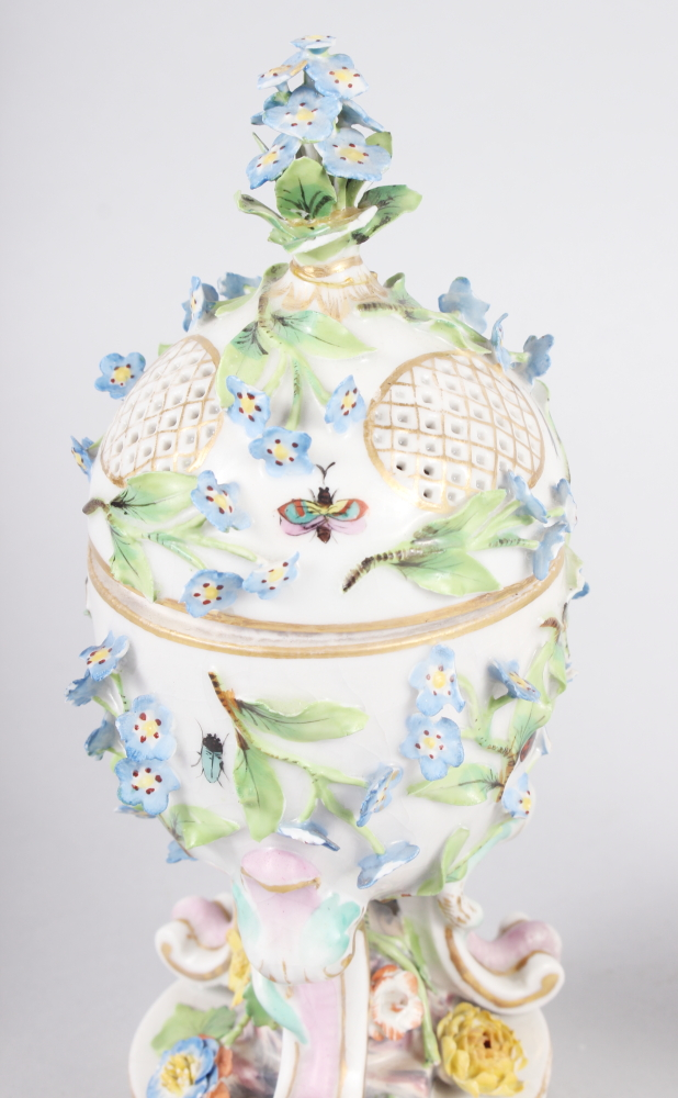 A pair of pot pourri jars with hinged covers and insect and relief floral decoration - Image 6 of 31