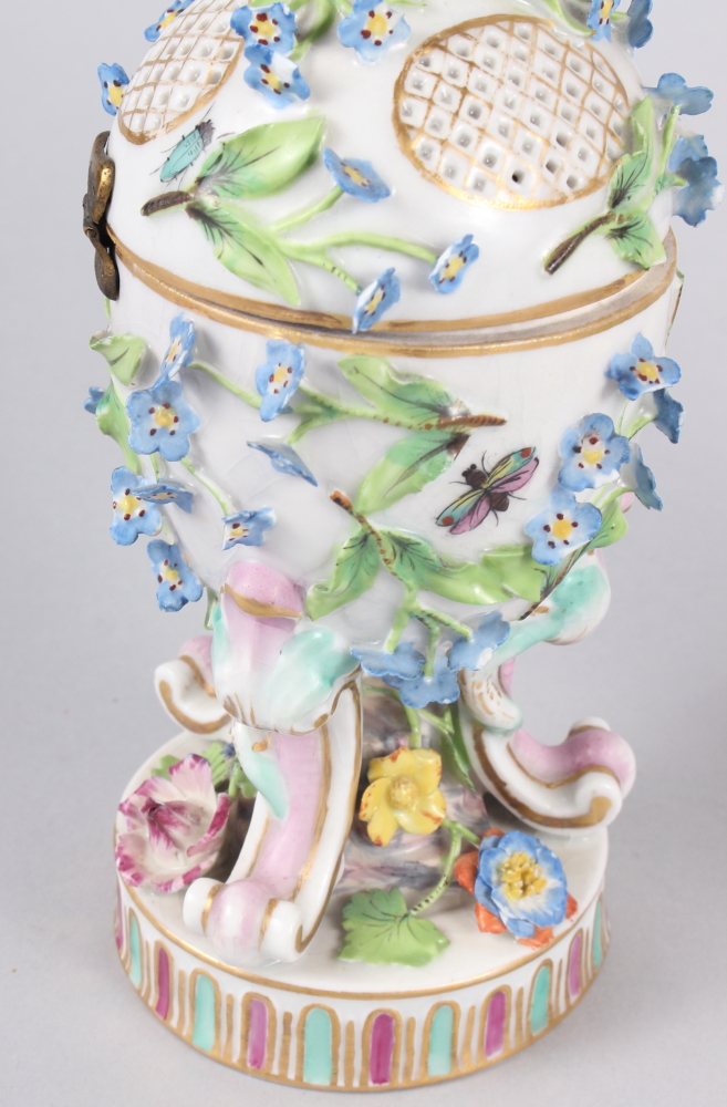 A pair of pot pourri jars with hinged covers and insect and relief floral decoration - Image 13 of 31