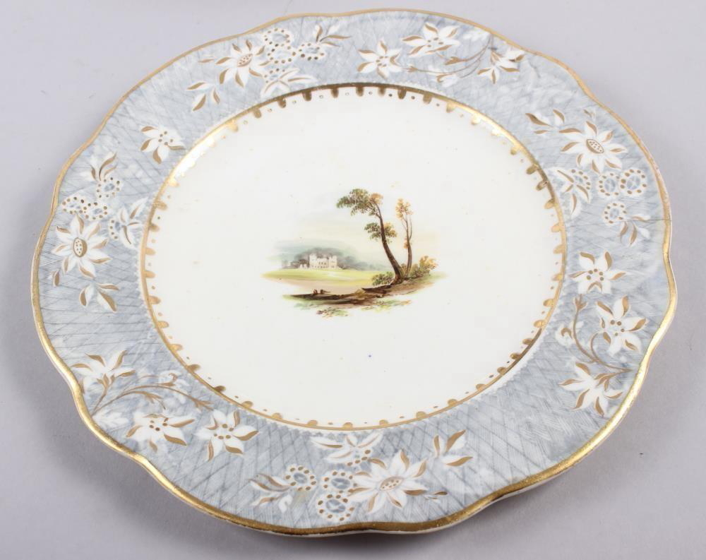 A Rockingham porcelain part dessert service, comprising six plates and two dessert dishes with - Image 8 of 24