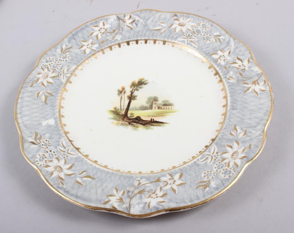 A Rockingham porcelain part dessert service, comprising six plates and two dessert dishes with - Image 11 of 24
