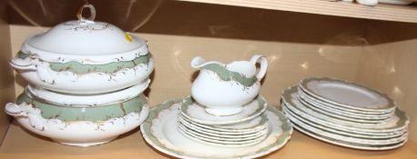 "A Royal Doulton bone china ""Fontainbleau"" pattern part dinner service for six"