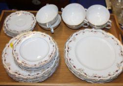 "A Royal Doulton bone china ""Strasbourg"" pattern part dinner service"