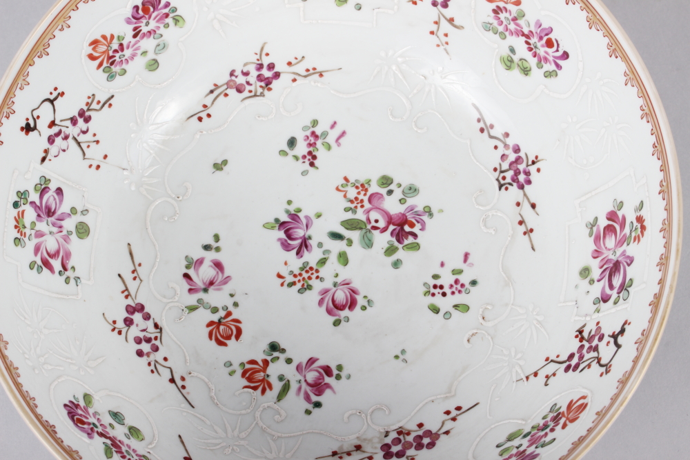 """A Sampson Paris bowl with armorial, floral and gilt decoration, 9"""" dia - Image 6 of 7"""