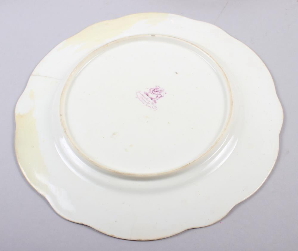 A Rockingham porcelain part dessert service, comprising six plates and two dessert dishes with - Image 9 of 24