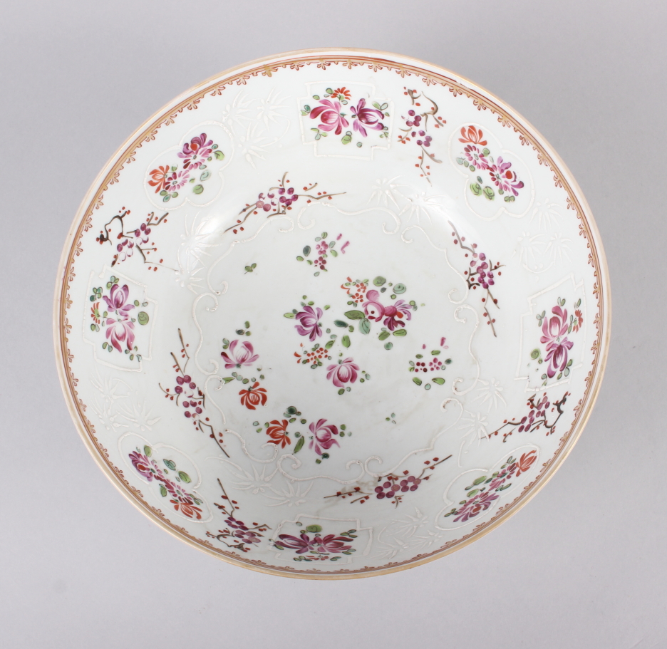 """A Sampson Paris bowl with armorial, floral and gilt decoration, 9"""" dia - Image 5 of 7"""