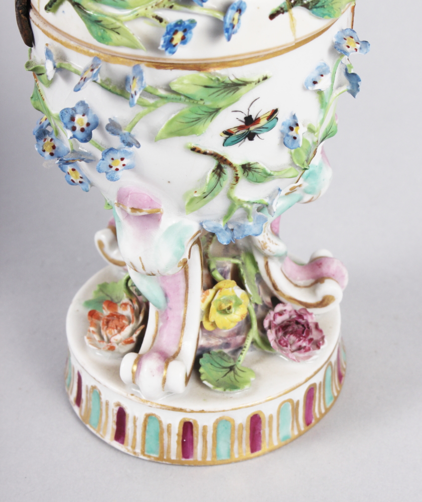 A pair of pot pourri jars with hinged covers and insect and relief floral decoration - Image 29 of 31