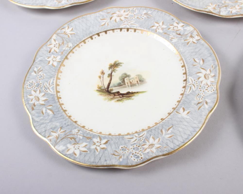 A Rockingham porcelain part dessert service, comprising six plates and two dessert dishes with - Image 2 of 24