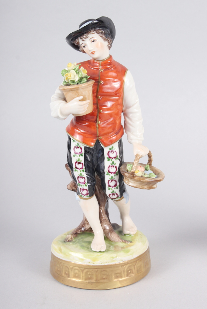 """A pair of Continental figures, flower sellers, 7 1/2"""" high - Image 2 of 7"""