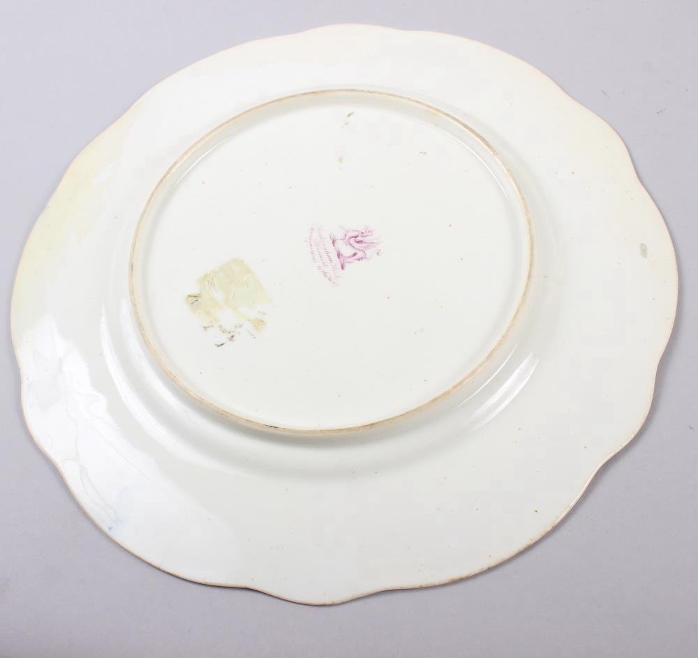 A Rockingham porcelain part dessert service, comprising six plates and two dessert dishes with - Image 3 of 24