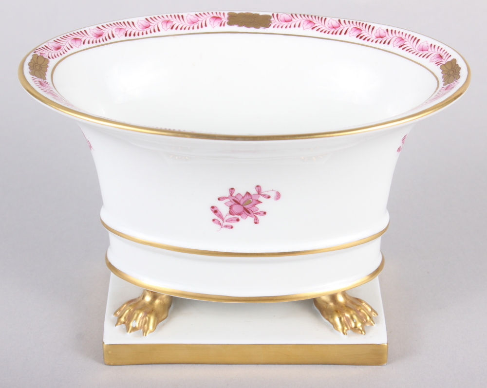 """A Herend menu card holder, formed as a dolphin with gilt decoration, 3"""" high, and a Herend oval bowl - Image 8 of 11"""