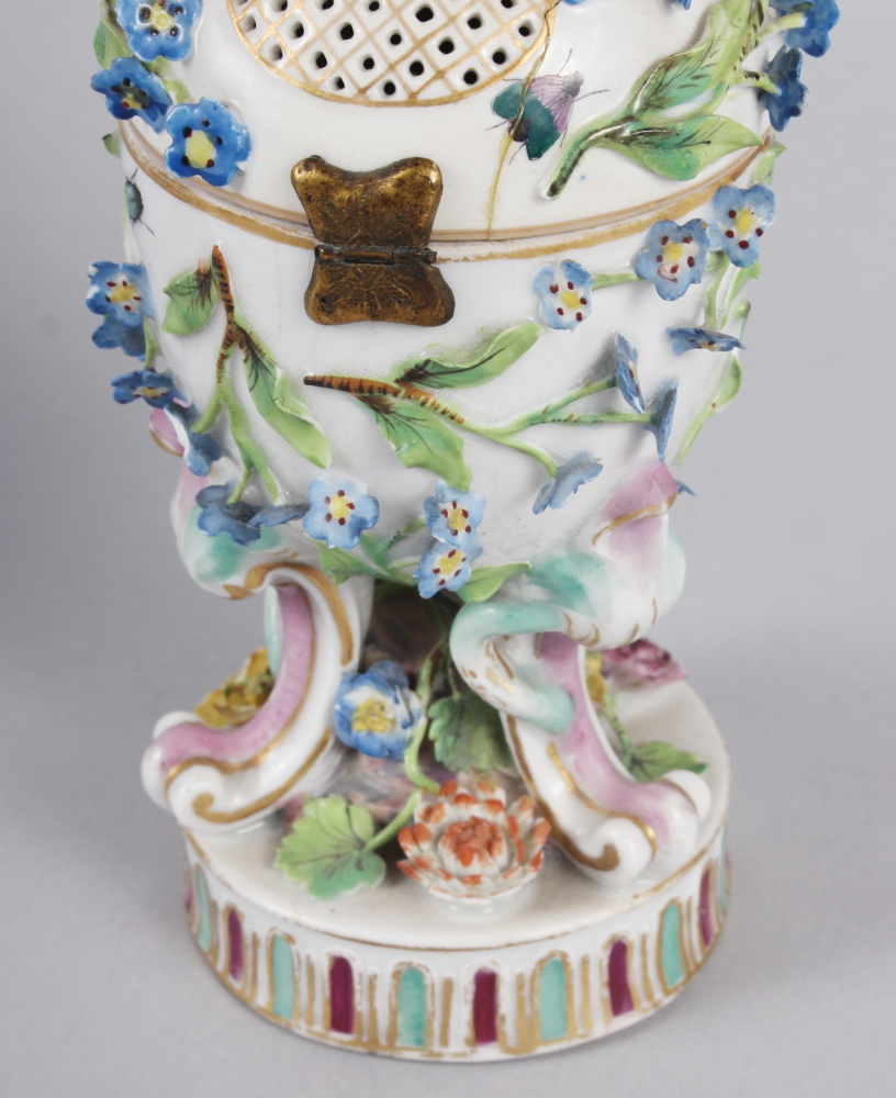 A pair of pot pourri jars with hinged covers and insect and relief floral decoration - Image 27 of 31
