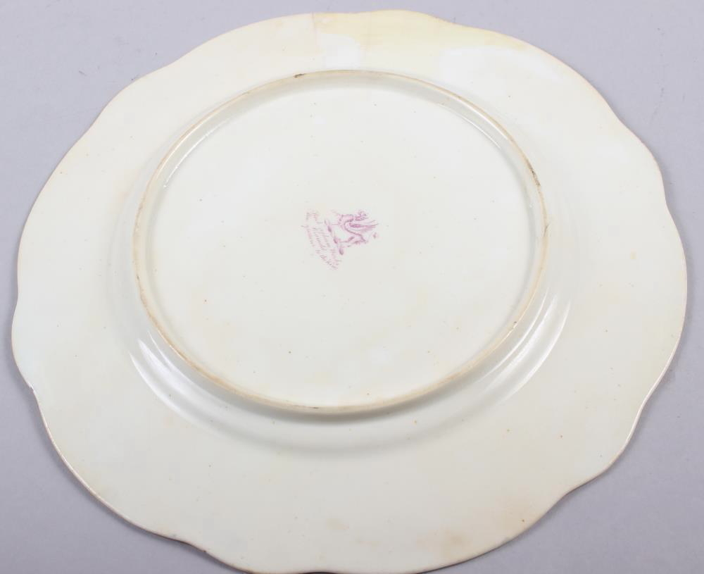 A Rockingham porcelain part dessert service, comprising six plates and two dessert dishes with - Image 18 of 24