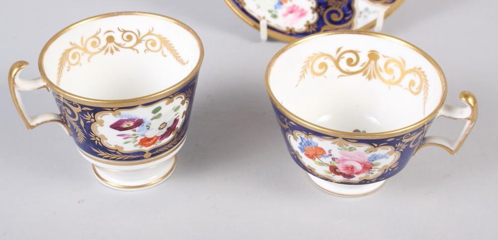 A New China Works, Worcester bone china floral and gilt decorated trio with Lynn Rose collector's - Image 2 of 4