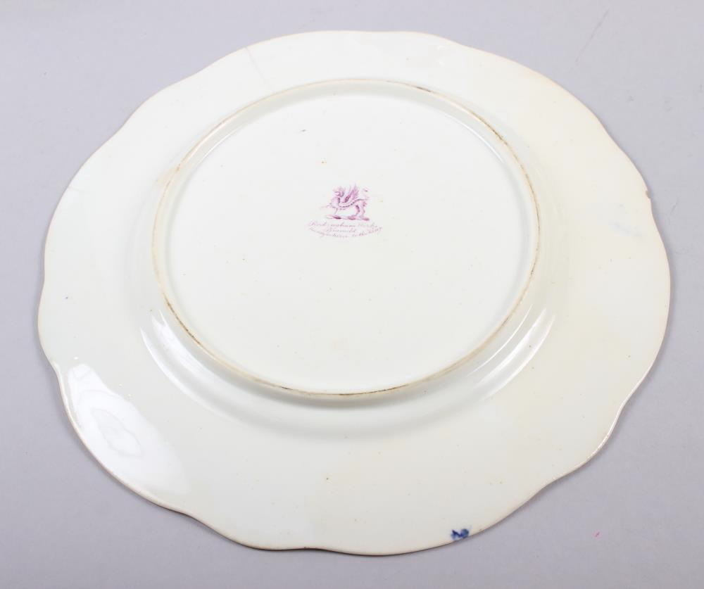 A Rockingham porcelain part dessert service, comprising six plates and two dessert dishes with - Image 12 of 24