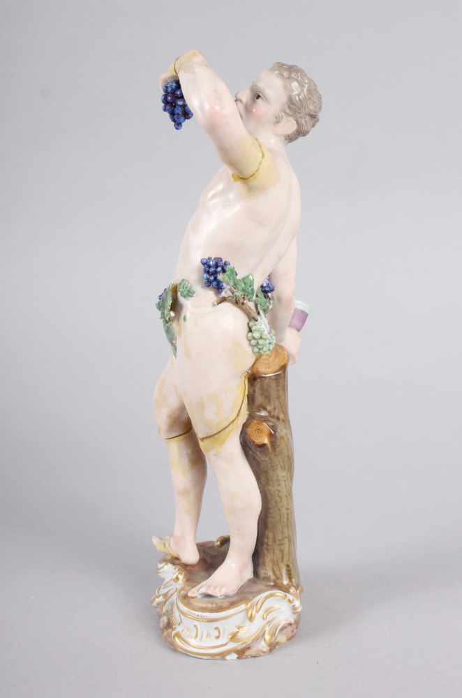 """An 18th century Meissen figure of Bacchus, 8"""" high (restored) - Image 4 of 8"""