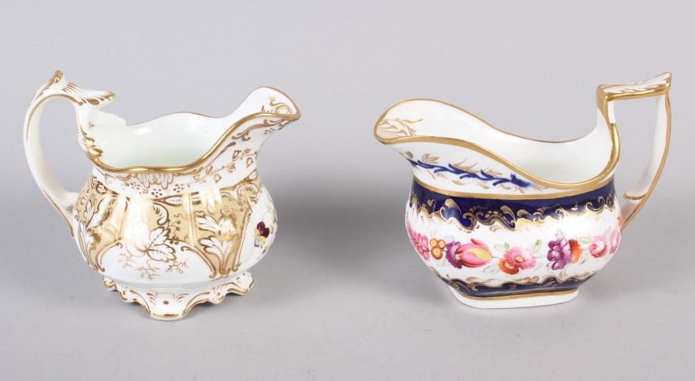 A 19th century bone china bulbous vase, decorated with panels of flower on a blue and gilt ground, 8 - Image 7 of 15