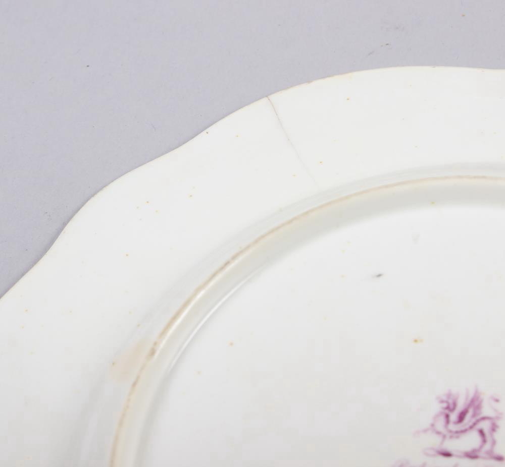 A Rockingham porcelain part dessert service, comprising six plates and two dessert dishes with - Image 13 of 24